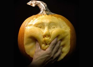 cheeky face pumpkin