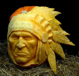 pumpkins and red indian