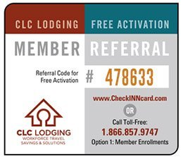 CID Referral Card Check Inn CLC Lodging business hotel discount 1
